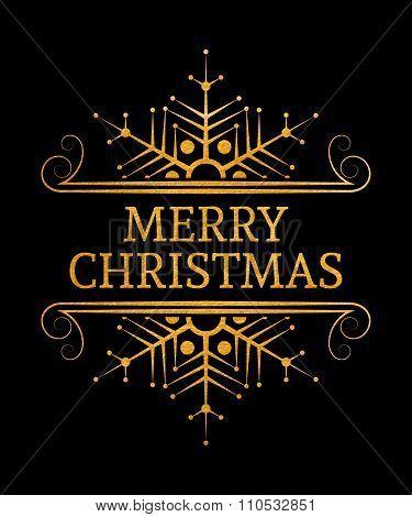 Decorative Merry Christmas inscription.