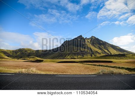 Mountain Landscape In Summer Of Iceland
