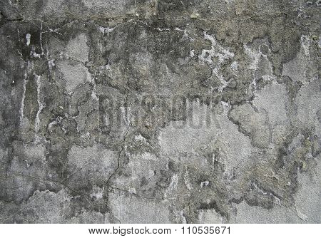 Grunge Plastered Wall Texture With Intricate Blotches For Your Design
