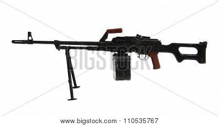 Machine Gun Isolated On White
