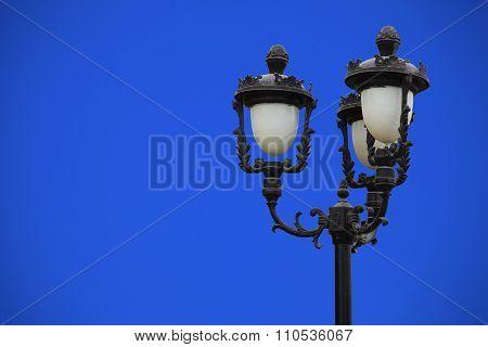 Street Light On Blue