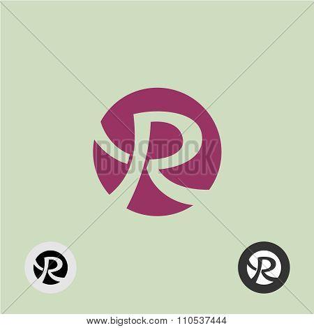 Letter R Round Logo
