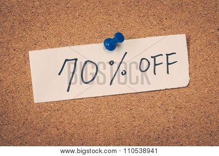 70 Seventy Percent Off