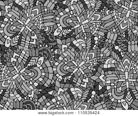 Zentangle Background Unuasual Grey 2