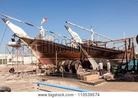 Dockyard In Manama, Bahrain