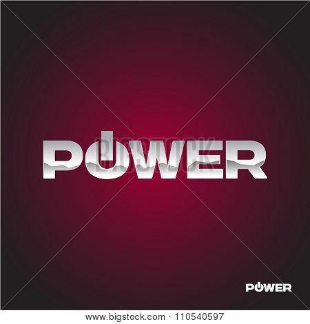 Power Text Logo