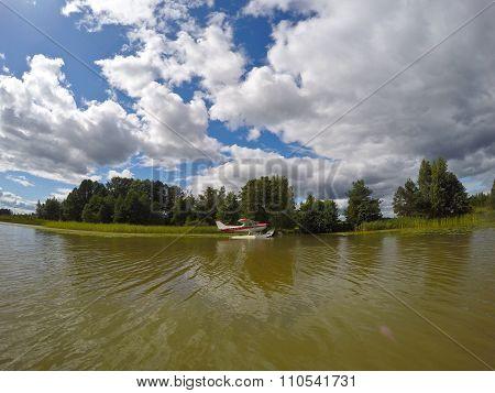 Plane On A Lake