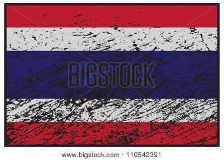 Thailand Flag Grunged