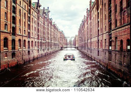 The Old Speicherstadt In Hamburg