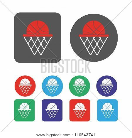 Basketball Objects Icon
