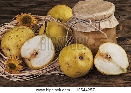 Pear Fruit Compote Vintage