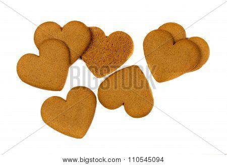 Cookies In The Shape Of Heart Isolate