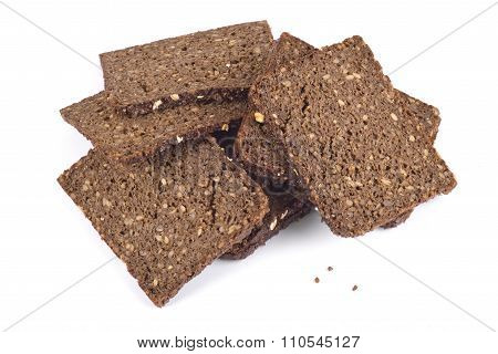 Natural real rye bread with oats