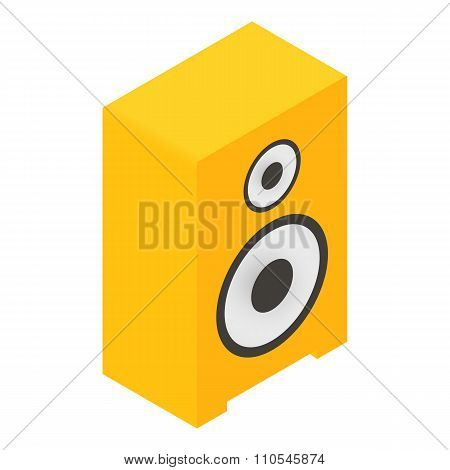 New sound speaker isometric 3d icon