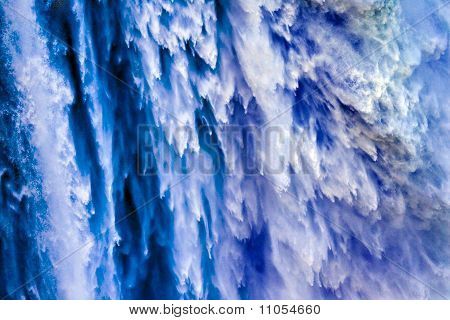 Torrent Snoqualme Falls Waterfall Abstract Washington State Pacific Northwest