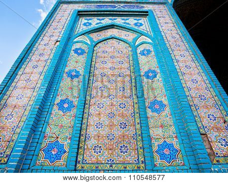 Pattern With Stars On Tiles Of The Old Persian Mosque In Iran