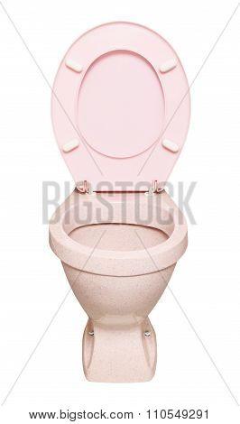 Pink Toilet Bowl