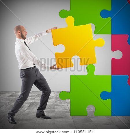 Complete a puzzle