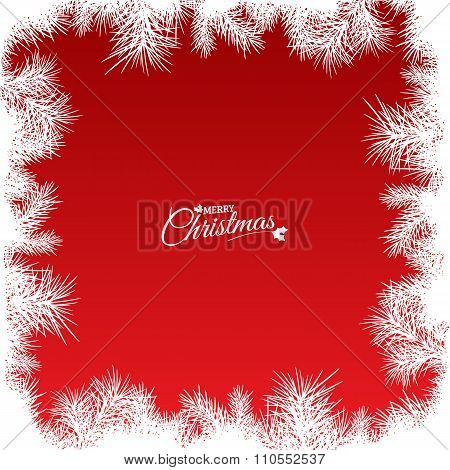 red christmas background, illustration