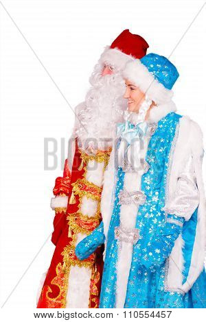 Ded Moroz (father Frost) And Snegurochka (snow Maiden)