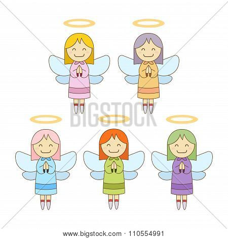 Cute Little Angels In Different Colour