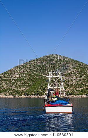 Fishing boat, departure