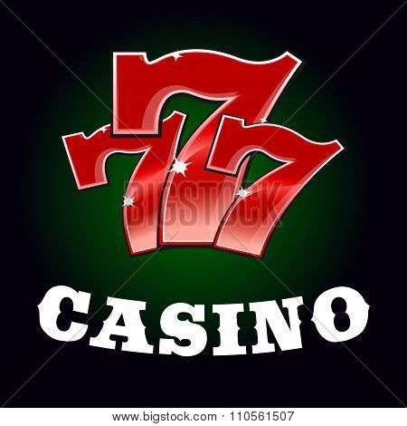 Casino jackpot icon with red lucky number