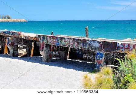 Tagged Breakwater: Fremantle Coast, Western Australia