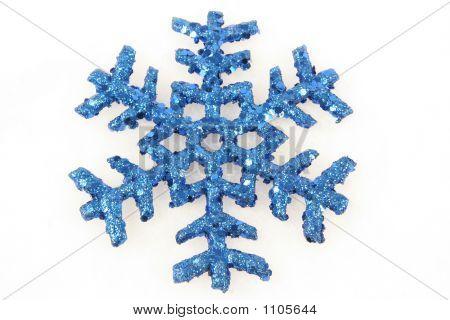 Blue Snowflake Christmas Ornament