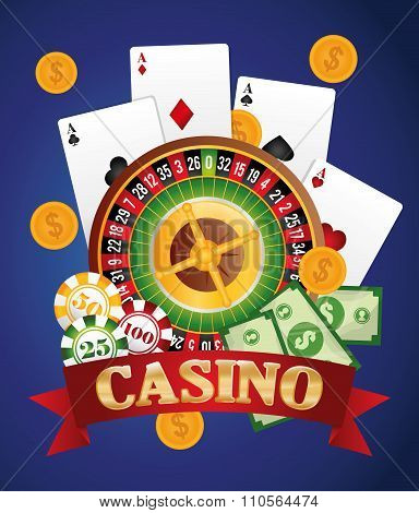 Casino gambling game graphic