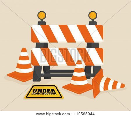 Under construction barrier design