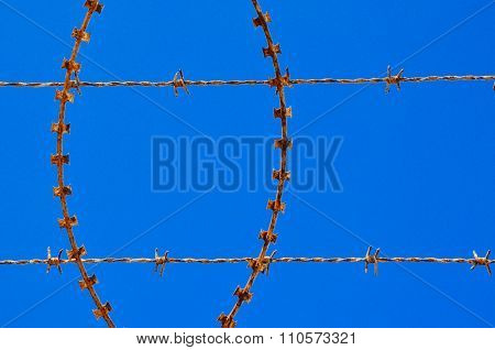 Barbed and Razor Wire: Rusted