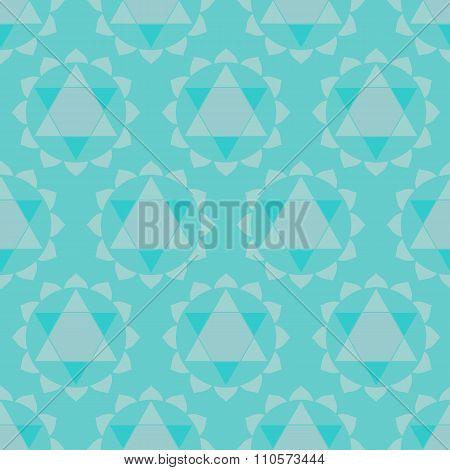 Ethnic chakras geometric seamless pattern