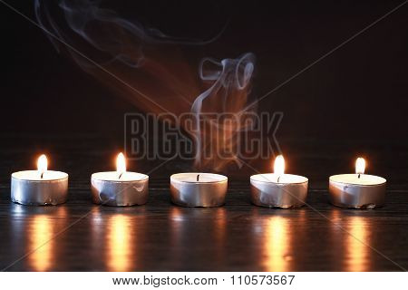 Candles On Dark