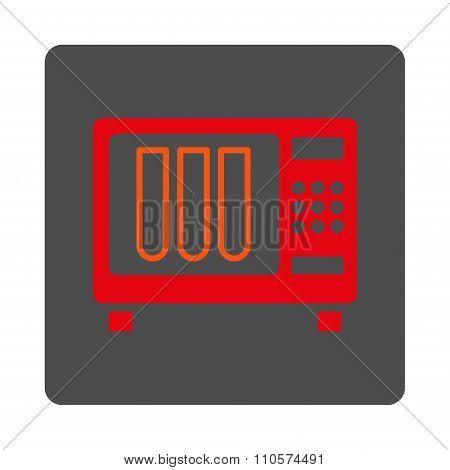 Sterilizer Rounded Square Button
