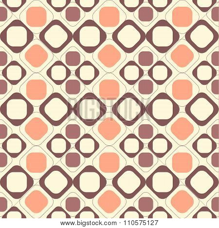 Geometric Seamless Pattern Background With Round Corner Square.