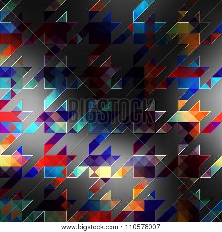 Geometric hounds-tooth pattern