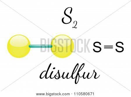 S2 disulfur molecule