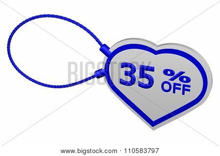 Heart Tag With Sign Discount 35 % Off