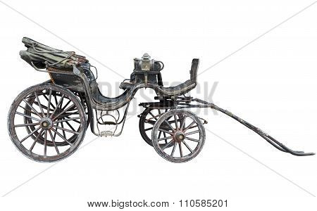 Horse Drawn Carriage Isolated On White Backhround