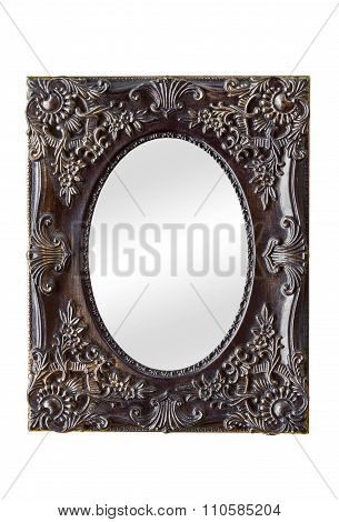 Mirror With Vintage Decorated Frame