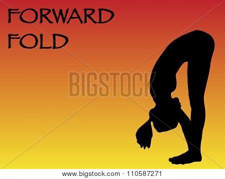 Yoga Woman Forward Fold Pose