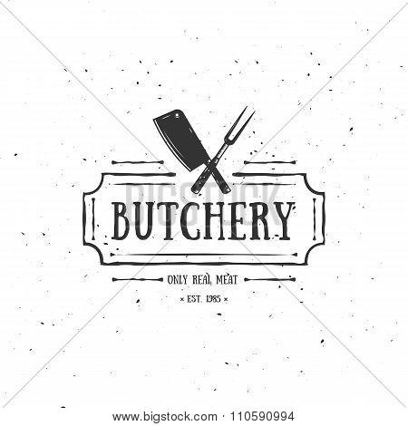 Butcher Shop Emblem. Meat Label, Badge, Logo.