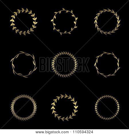 Golden wreath set