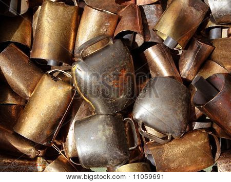 Cowbell Bell Pattern Texture In Market Shop