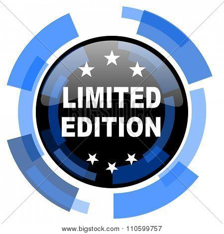 limited edition black blue glossy web icon