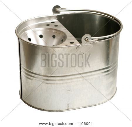 Galvanized Steel Bucket (Inc Clipping Path)