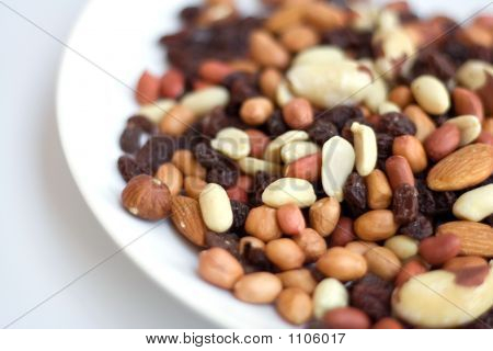 Mixed Nuts On Plate