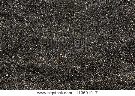Pile of Black islandic sand