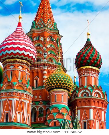 St Basils Cathedral On Red Square In Moscow